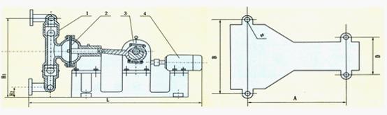dby型电动隔膜泵主要外形结构图